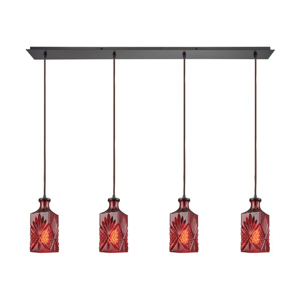 Bedingfield Linear Pan 4-Light Kitchen Island Pendant by World Menagerie