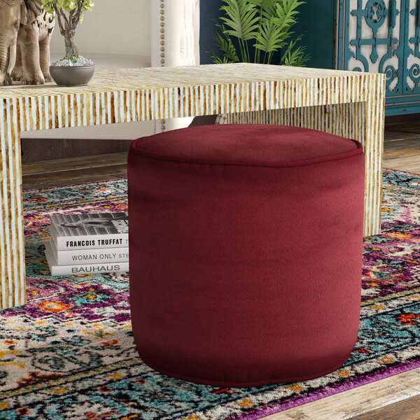 Wessels Upholstered Majestic Plush Pouf by Red Barrel Studio