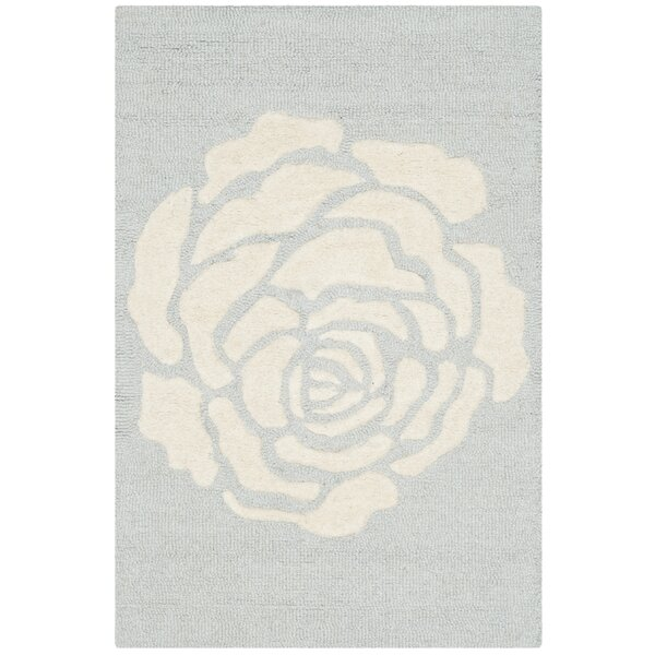 Martins Gray/Ivory Area Rug by Wrought Studio
