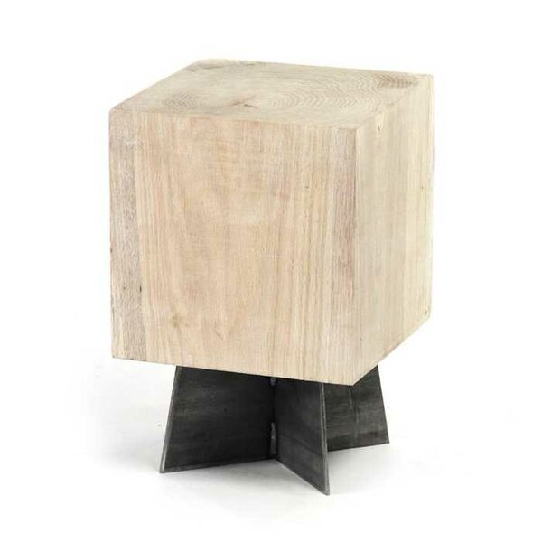 Cutshall Bleached Accent Stool by Foundry Select