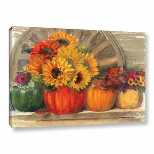 Autumn Still Life Painting Print on Wrapped Canvas by Alcott Hill