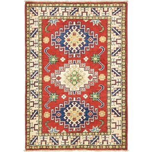 Bargain One-of-a-Kind Alayna Hand-Knotted 2'10 x 4'1 Wool Beige/Blue/Red Area Rug By Isabelline