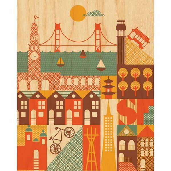 San Francisco Decorative Plaque by Petit Collage
