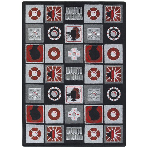 Red/Gray Area Rug by The Conestoga Trading Co.