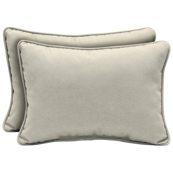 Cangelosi Texture Outdoor Lumbar Pillow (Set of 2) by Longshore Tides