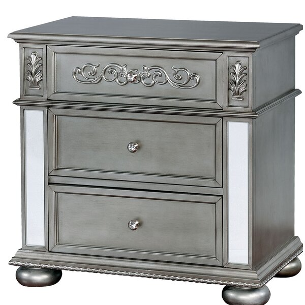 Nya Traditional Wood 3 Drawer Nightstand By Rosdorf Park by Rosdorf Park Wonderful
