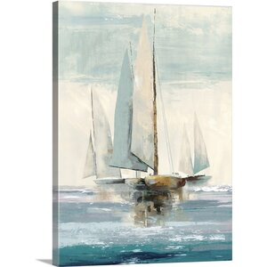 'Quiet Boats I' by Allison Pearce Painting Print on Canvas by Great Big Canvas