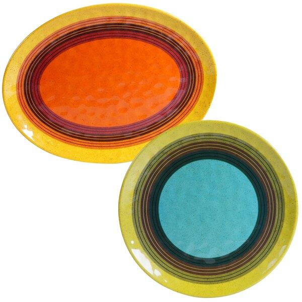 Sedona 2 Piece Heavy Weight Melamine Platter Set by Certified International