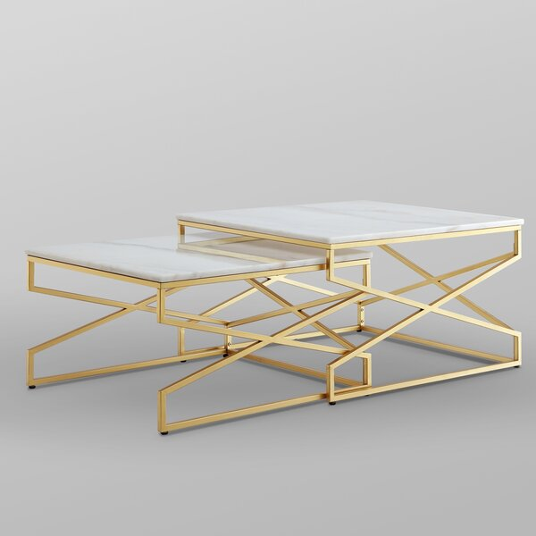 Jayceon Frame 2 Nesting Tables by Everly Quinn Everly Quinn