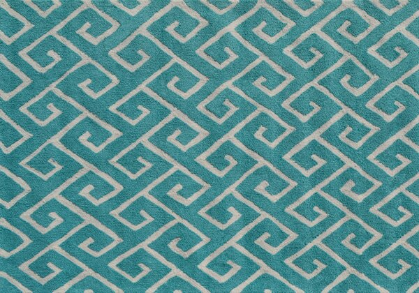Stockton Hand-Hooked Blue Area Rug by Threadbind