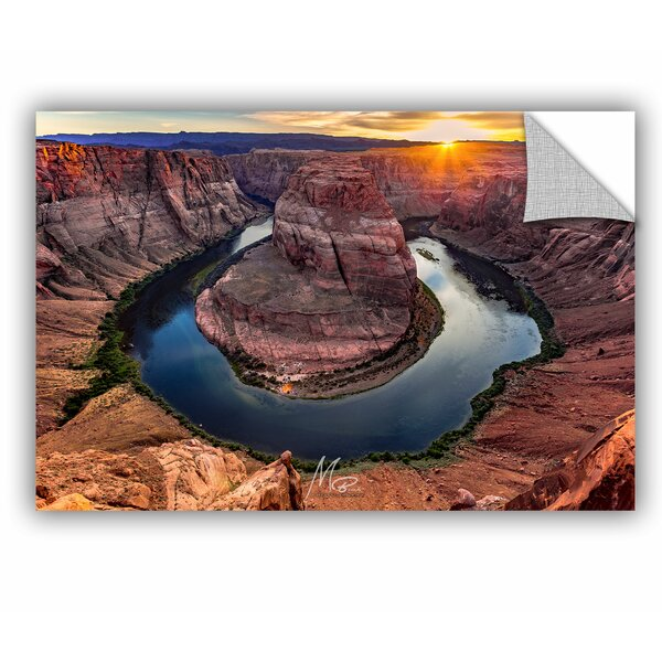 Michael Beach Sunset at Horseshoe Bend Wall Decal by ArtWall