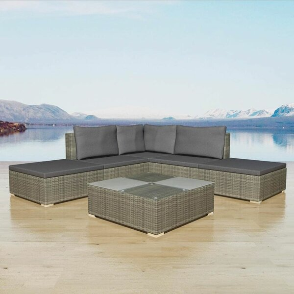 Tring Garden 6 Piece Sectional Seating Group with Cushions by Ivy Bronx