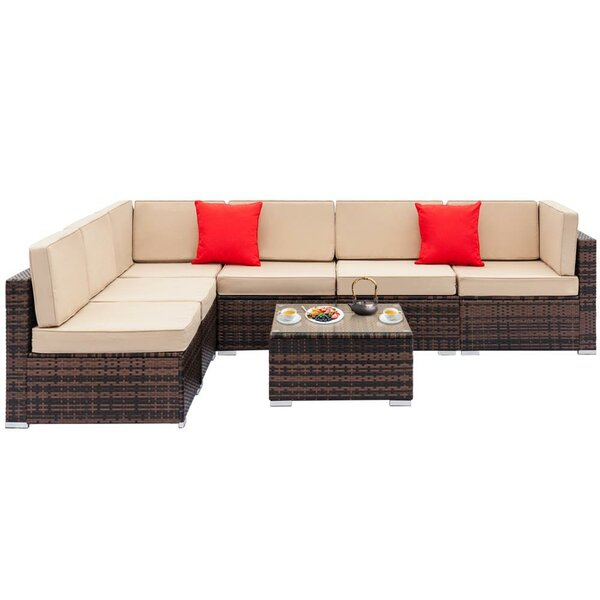 Fey Sectional Seating Group with Cushions by Bay Isle Home