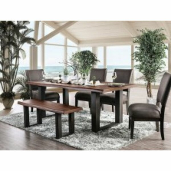 Schnieders Solid Wood Dining Table by Millwood Pines