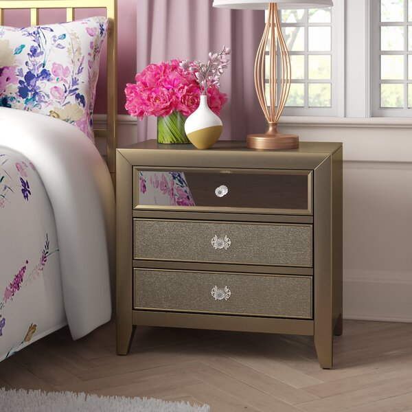 Borland 3 Drawer Nightstand by Rosdorf Park