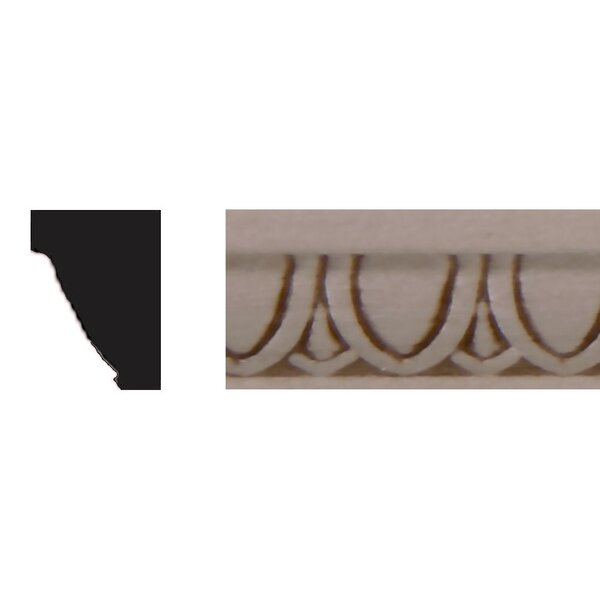 3/8 in. x 1/2 in. x 4 ft. Basswood Panel Moulding by Manor House