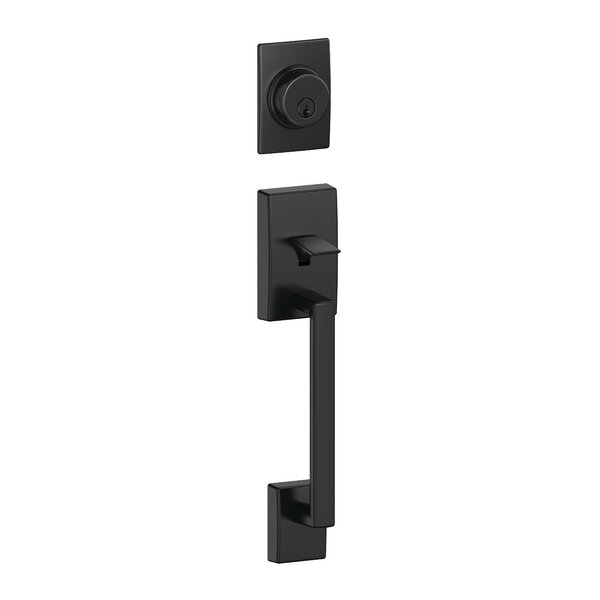 Century Exterior Handleset Grip with Exterior Single Cylinder Deadbolt by Schlage