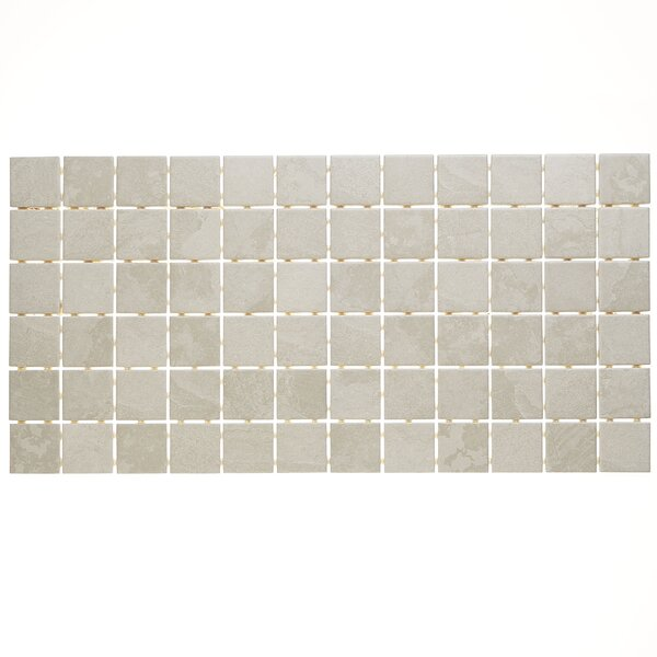 Slate Attaché 12 x 24 Porcelain Mosaic Tile in Meta Light Gray by Daltile
