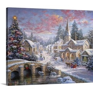 Christmas Art Heaven on Earth by Nicky Boehme Painting Print on Wrapped Canvas by Great Big Canvas