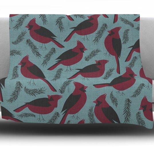 Winter Birds by Michelle Drew Fleece Blanket by East Urban Home