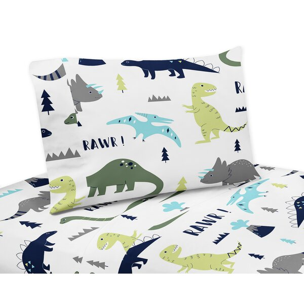 Mod Dinosaur 3 Piece Sheet Set by Sweet Jojo Designs