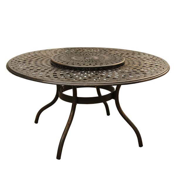 Cascio Outdoor Mesh Lattice Dining Table by Fleur De Lis Living