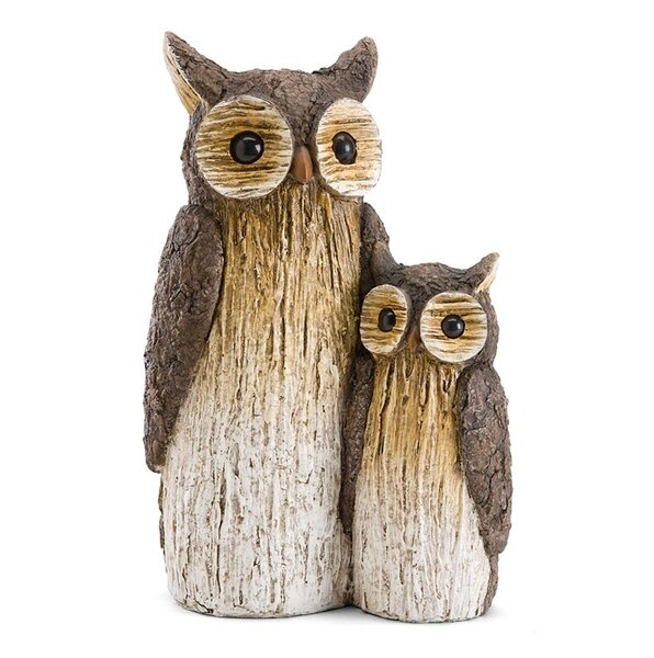 Wind U0026 Weather Mother And Baby Owl Garden Statue U0026 Reviews | Wayfair