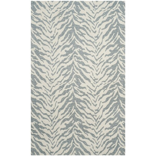 Kempston Hand-Woven Beige/Gray Area Rug by House of Hampton