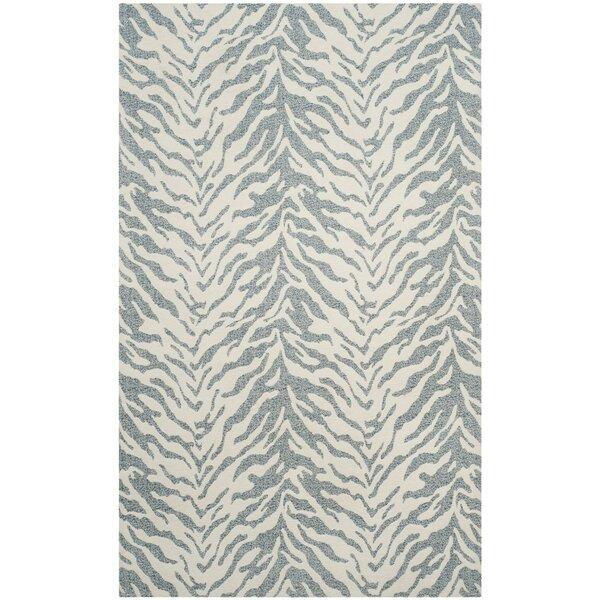 Kempston Hand-Woven Beige/Gray Area Rug by House of Hampton