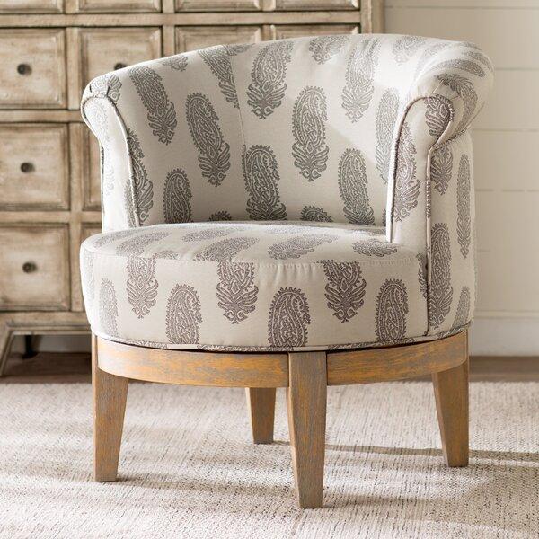 Haywood Swivel Barrel Chair by Laurel Foundry Modern Farmhouse