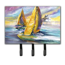 Sailboat with Middle Bay Lighthouse Key Holder by Caroline's Treasures