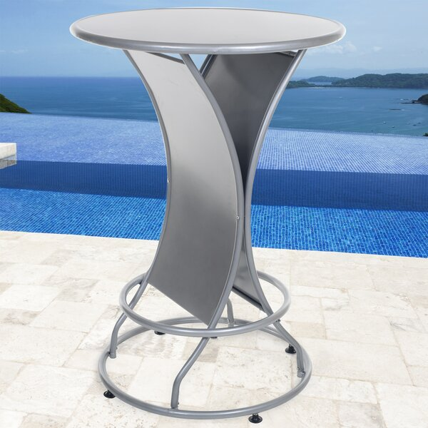 Stainless Steel Bar Table by Pure Garden