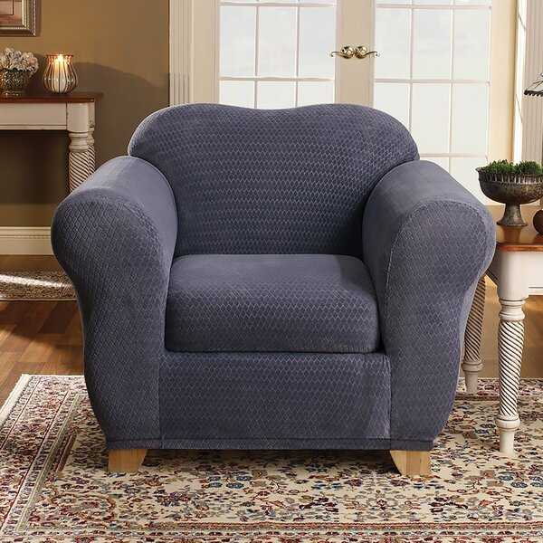 Review Royal Diamond Box Cushion Armchair Slipcover