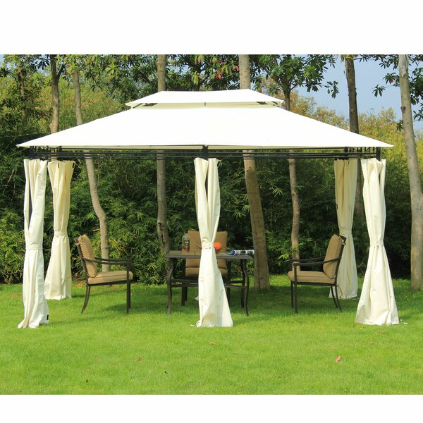 13 Ft. W x 10 Ft. D Steel Patio Gazebo by Outsunny