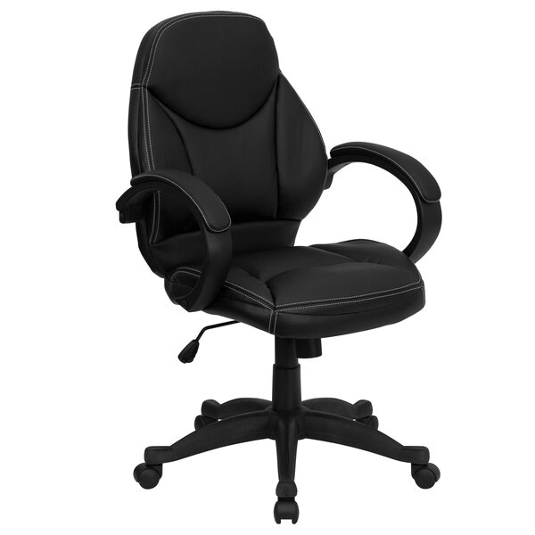 Wittig High-Back Leather Executive Chair by Symple Stuff