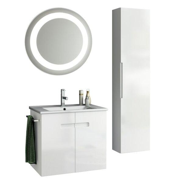 New York 27 Single Bathroom Vanity Set with Mirror