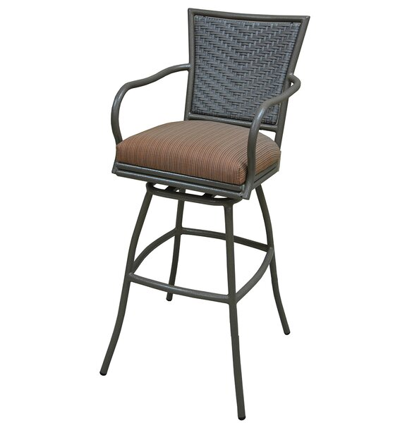 Erin 35 Patio Bar Stool with Cushion by Tobias Designs| @ $506.00