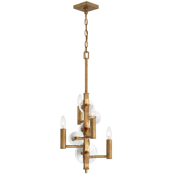 Casey 4 - Light Shaded Empire Chandelier By Rosdorf Park