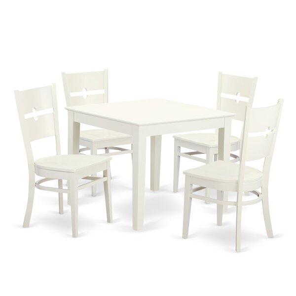 Cobleskill 5 Piece Dining Set by Alcott Hill