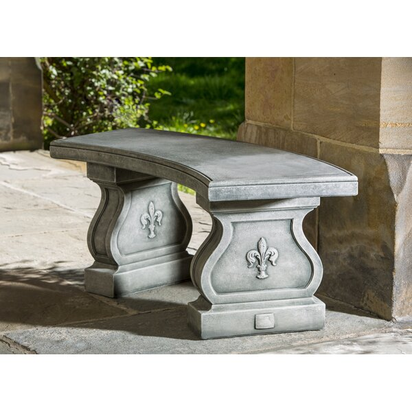 Isidoro Fleur De Lys Curved Bench by One Allium Way