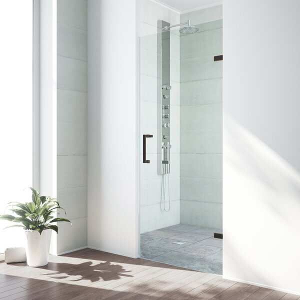 SoHo 24 x 70.63 Hinged Frameless Shower Door by VIGO