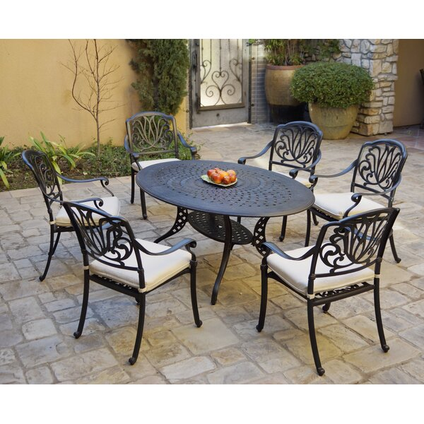 Buie 7 Piece Dining Set with Cushions by Canora Grey