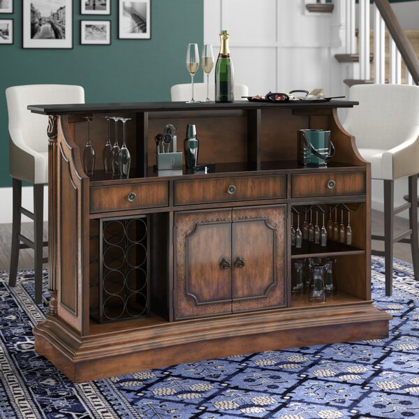 Ansel Bar with Wine Storage by Darby Home Co Darby Home Co