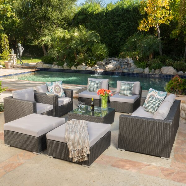 Cabral 8 Piece Sofa Seating Group with Cushions by Sol 72 Outdoor
