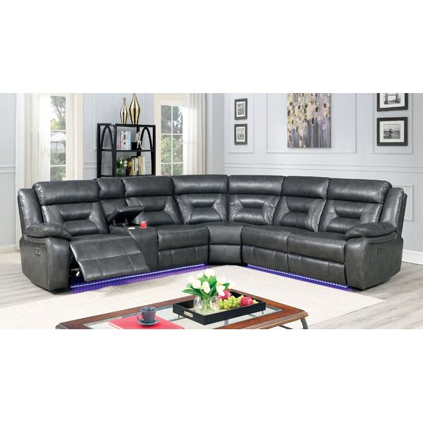 Evelin Symmetrical Reclining Sectional By Red Barrel Studio
