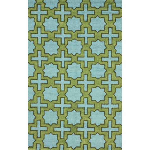 Homestead Nala Hand-Tufted Green/Blue Area Rug by nuLOOM
