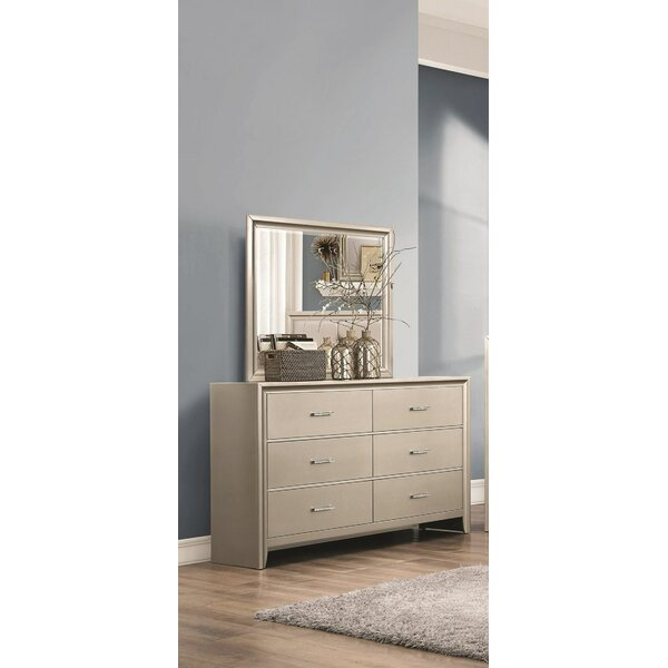 Enya 6 Drawer Double Dresser with Mirror by Willa Arlo Interiors