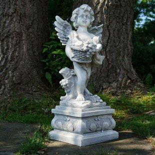 Lighted angel outdoor wayfair cherub angel outdoor garden statue mozeypictures Image collections