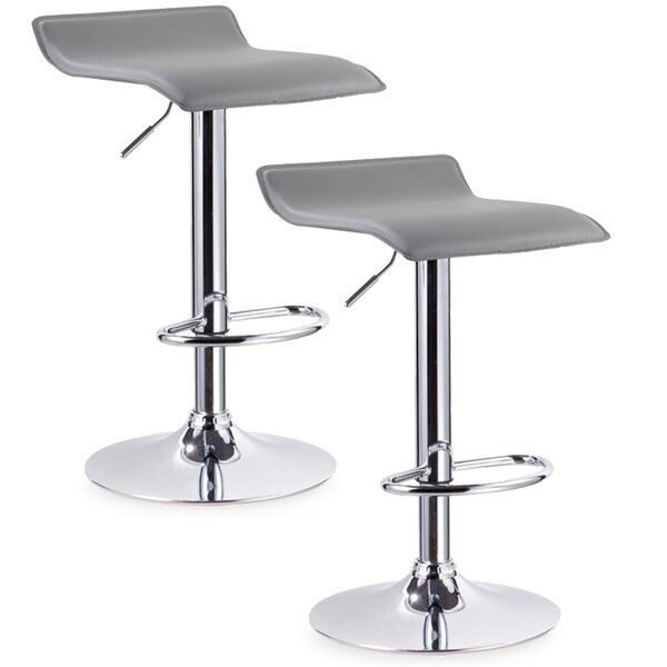Eilerman Adjustable Height Swivel Bar Stool (Set of 2) by Orren Ellis
