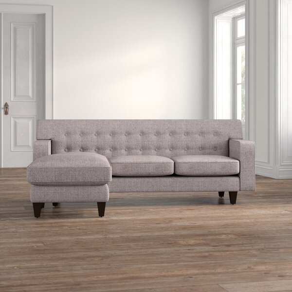 Izabella Reversible Sectional With Ottoman By Ivy Bronx
